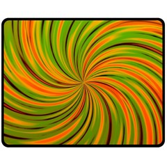 Happy Green Orange Double Sided Fleece Blanket (Medium)