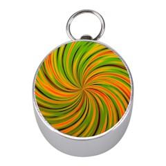 Happy Green Orange Mini Silver Compasses