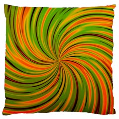 Happy Green Orange Standard Flano Cushion Cases (Two Sides)