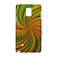 Happy Green Orange Samsung Galaxy Note 4 Hardshell Case