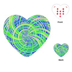 Happy Green Playing Cards (Heart)