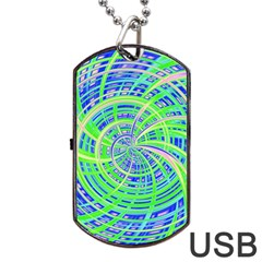 Happy Green Dog Tag Usb Flash (two Sides)