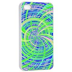Happy Green Apple Iphone 4/4s Seamless Case (white)