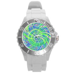 Happy Green Round Plastic Sport Watch (L)