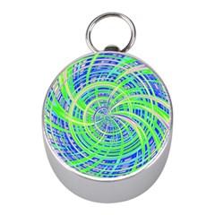 Happy Green Mini Silver Compasses