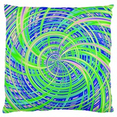 Happy Green Large Flano Cushion Cases (One Side)