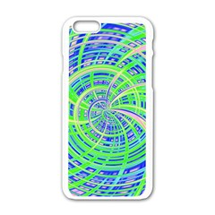 Happy Green Apple iPhone 6/6S White Enamel Case