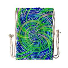 Happy Green Drawstring Bag (Small)