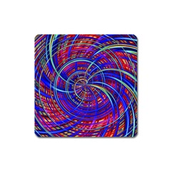 Happy Red Blue Square Magnet