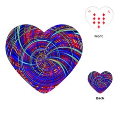 Happy Red Blue Playing Cards (heart)