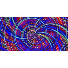 Happy Red Blue You Are Invited 3d Greeting Card (8x4)