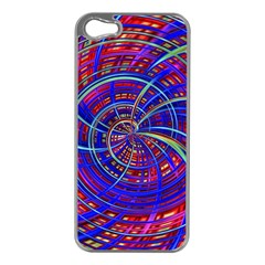 Happy Red Blue Apple iPhone 5 Case (Silver)