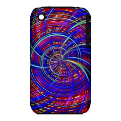 Happy Red Blue Apple iPhone 3G/3GS Hardshell Case (PC+Silicone)