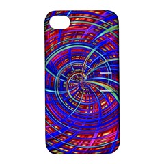 Happy Red Blue Apple iPhone 4/4S Hardshell Case with Stand