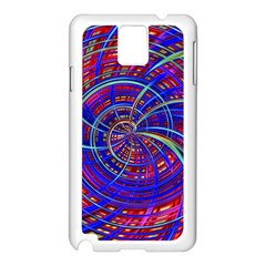 Happy Red Blue Samsung Galaxy Note 3 N9005 Case (white)