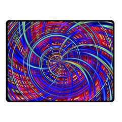 Happy Red Blue Double Sided Fleece Blanket (small)