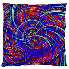 Happy Red Blue Standard Flano Cushion Cases (One Side)