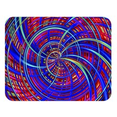 Happy Red Blue Double Sided Flano Blanket (large)