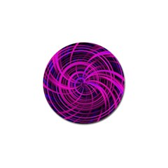 Happy, Black Pink Golf Ball Marker (4 pack)