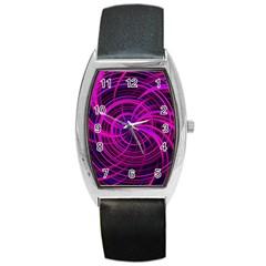 Happy, Black Pink Barrel Metal Watches