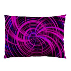 Happy, Black Pink Pillow Cases
