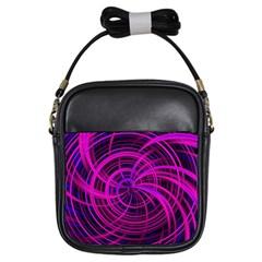 Happy, Black Pink Girls Sling Bags