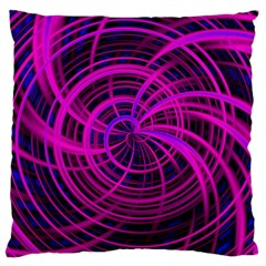 Happy, Black Pink Large Cushion Cases (One Side)