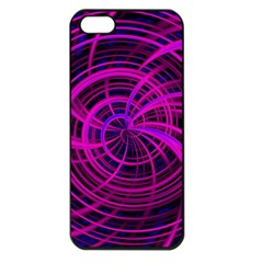 Happy, Black Pink Apple iPhone 5 Seamless Case (Black)