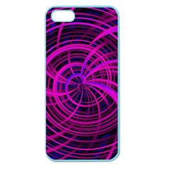 Happy, Black Pink Apple Seamless iPhone 5 Case (Color)