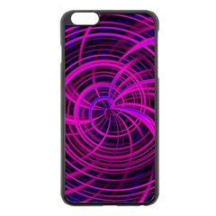 Happy, Black Pink Apple Iphone 6 Plus/6s Plus Black Enamel Case