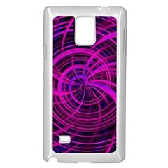 Happy, Black Pink Samsung Galaxy Note 4 Case (White)