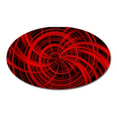 Happy, Black Red Oval Magnet