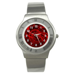 Happy, Black Red Stainless Steel Watches