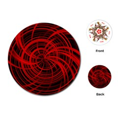 Happy, Black Red Playing Cards (Round)