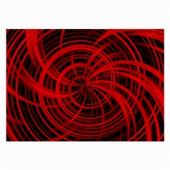 Happy, Black Red Large Glasses Cloth