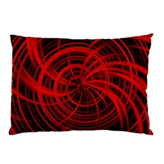 Happy, Black Red Pillow Cases