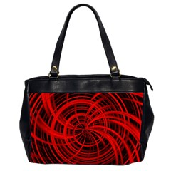 Happy, Black Red Office Handbags (2 Sides)