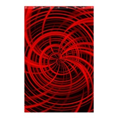 Happy, Black Red Shower Curtain 48  X 72  (small)