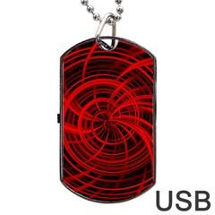 Happy, Black Red Dog Tag Usb Flash (one Side)