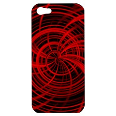 Happy, Black Red Apple iPhone 5 Hardshell Case