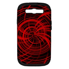 Happy, Black Red Samsung Galaxy S III Hardshell Case (PC+Silicone)