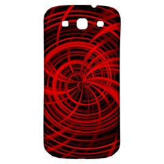 Happy, Black Red Samsung Galaxy S3 S III Classic Hardshell Back Case