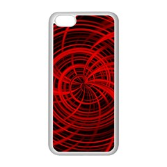 Happy, Black Red Apple iPhone 5C Seamless Case (White)
