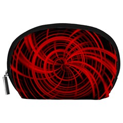 Happy, Black Red Accessory Pouches (large)
