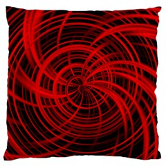 Happy, Black Red Standard Flano Cushion Cases (Two Sides)