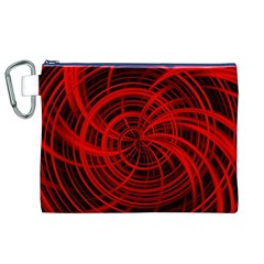 Happy, Black Red Canvas Cosmetic Bag (XL)