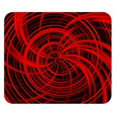 Happy, Black Red Double Sided Flano Blanket (Small)
