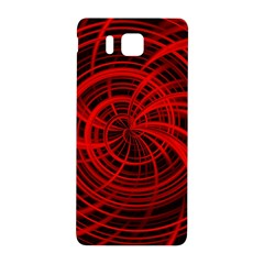 Happy, Black Red Samsung Galaxy Alpha Hardshell Back Case