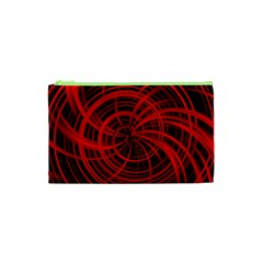 Happy, Black Red Cosmetic Bag (xs)