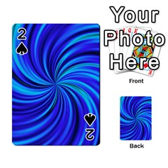 Happy, Blue Playing Cards 54 Designs